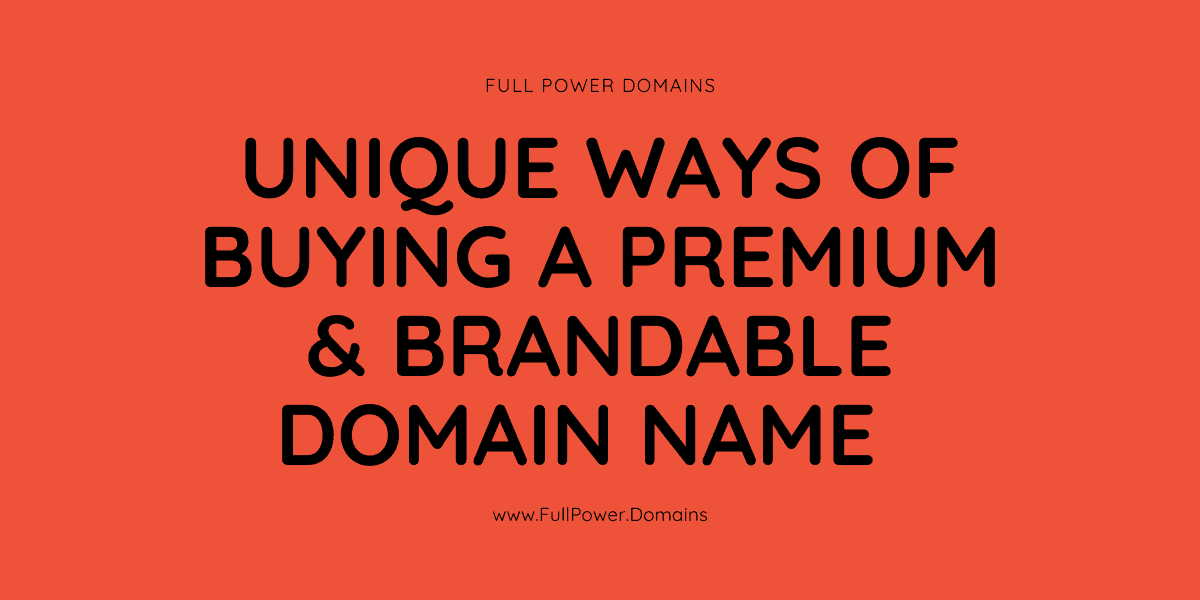 buy premium and brandable domain names