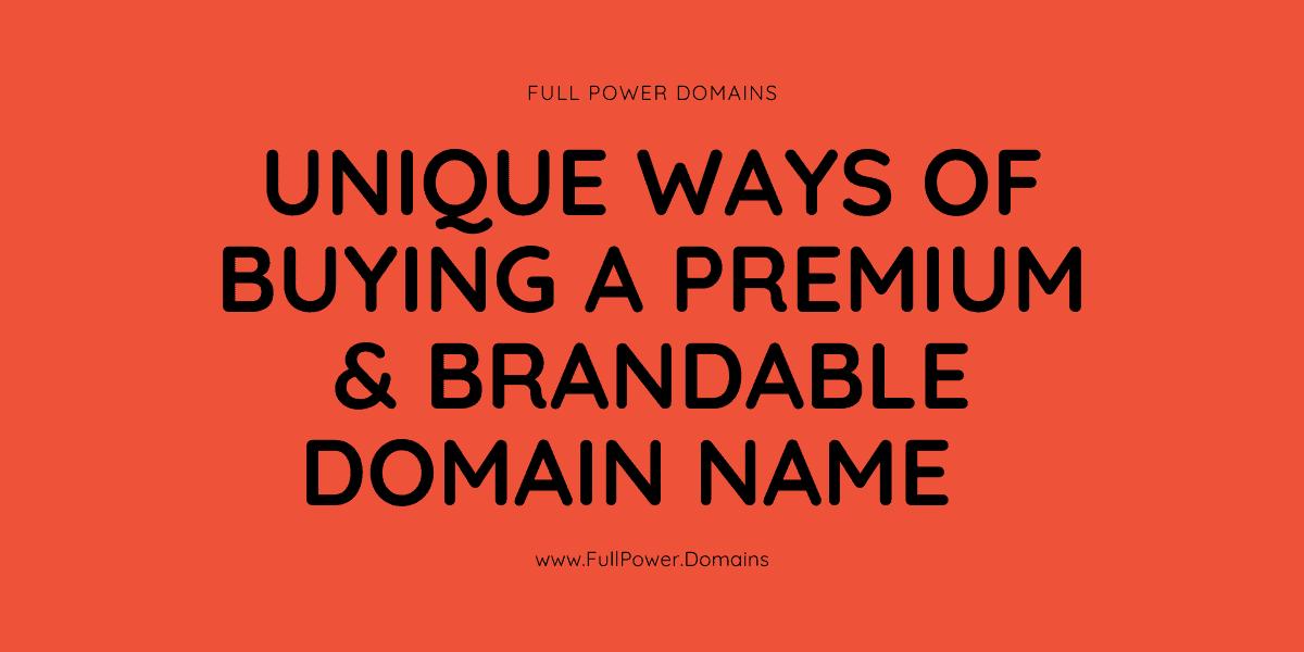 buy premium and brandable domain names