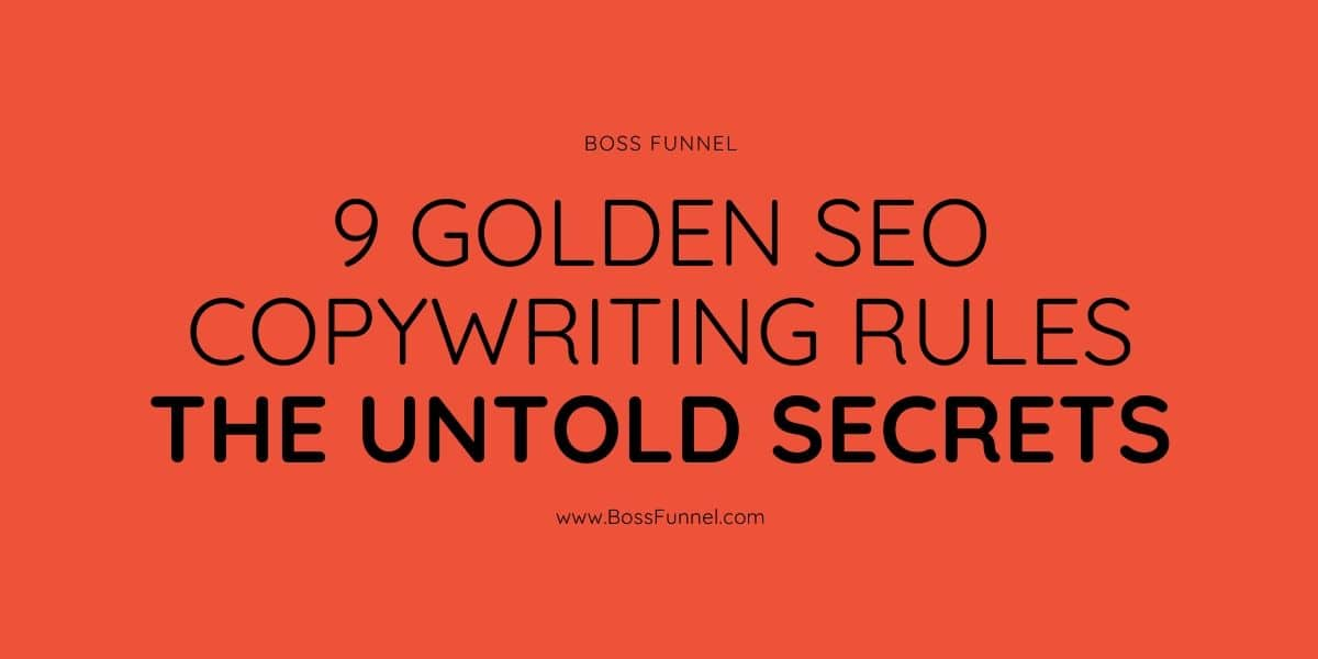 SEO Copywriting rules