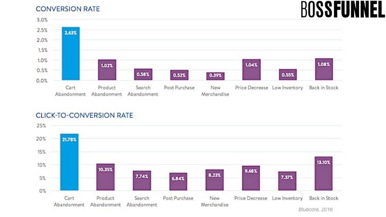 Conversion rate for email marketing of ecommerce- Boss Funnel