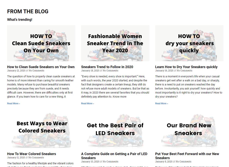 eCommerce blog management