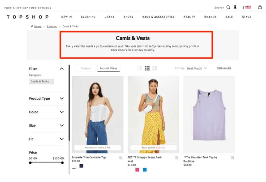 Adding categories on ecommerce store
