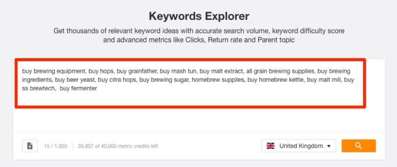 one page seo for ecommerce