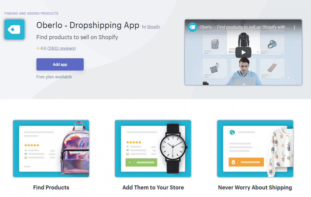 Oberlo: Best Dropshipping Apps with Shopify to Manage Inventory