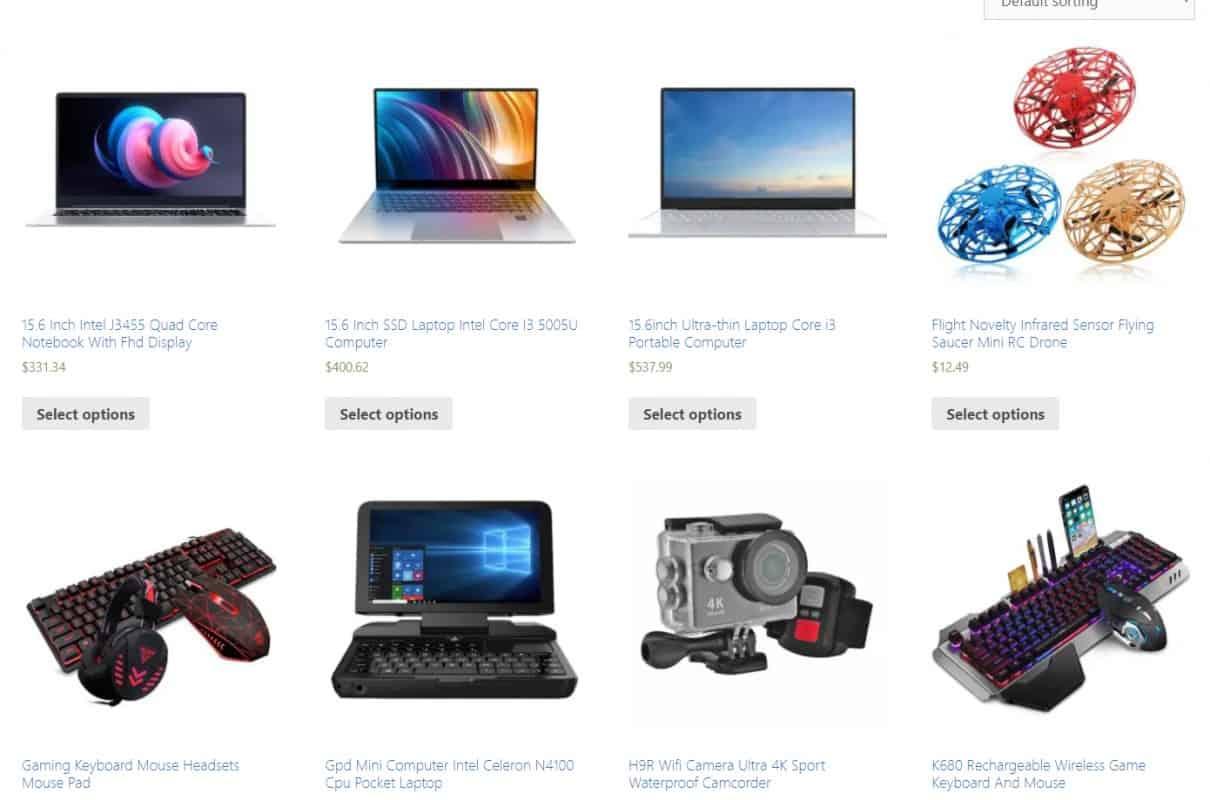Examples of digital gadget store:  https://gadgetdope.com/
