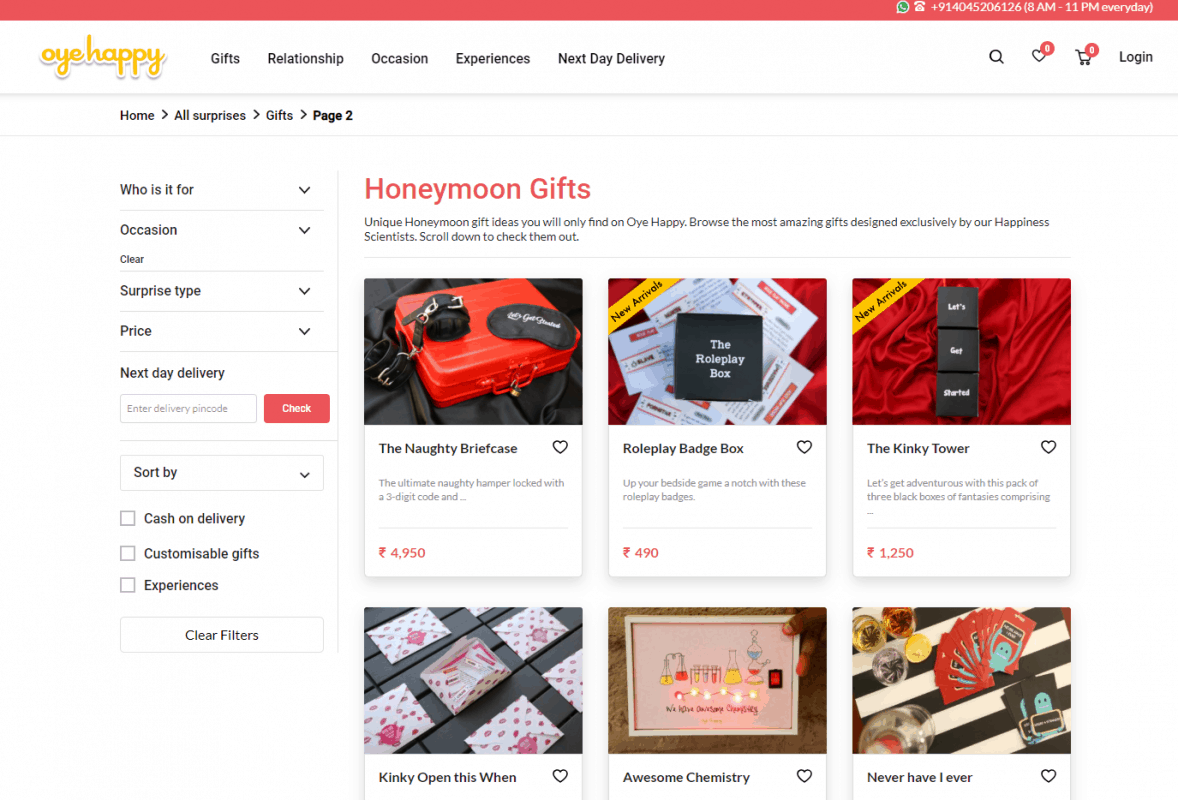 Creative gift ideas can be found here-  https://www.oyehappy.com/surprises/gifts/honeymoon/page/2/