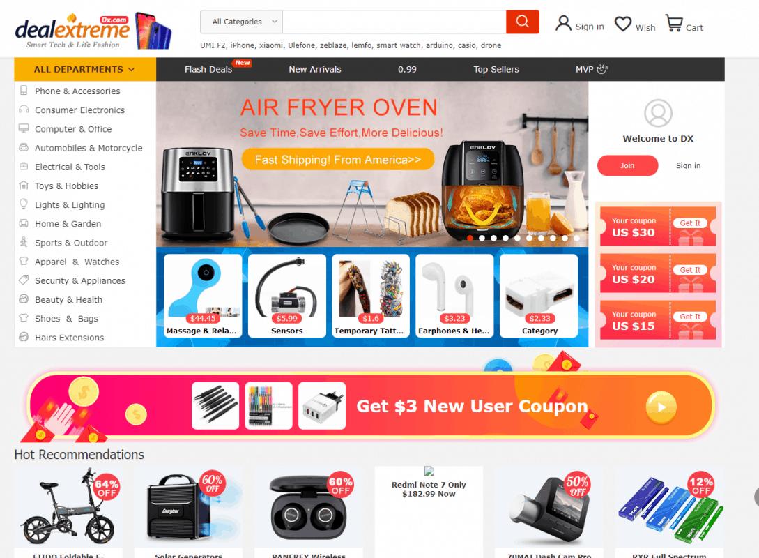 DX.com- a premium dropshipping supplier