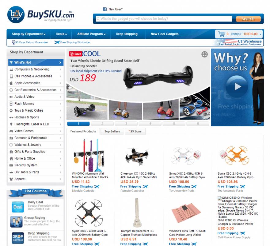 BuySKU.com- A premium dropshipping supplier