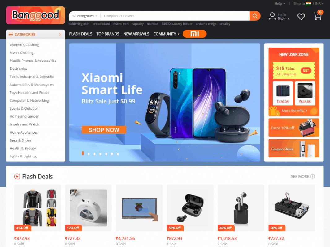 Banggood.com- A premium dropshipping supplier