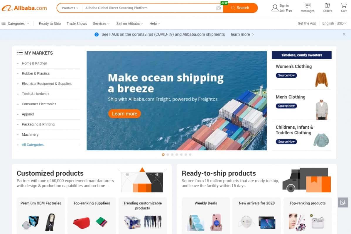 Alibaba.com- A premium dropshipping supplier