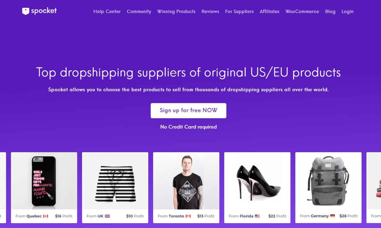 SPocket- Best Dropshipping Apps with Shopify to Manage Inventory