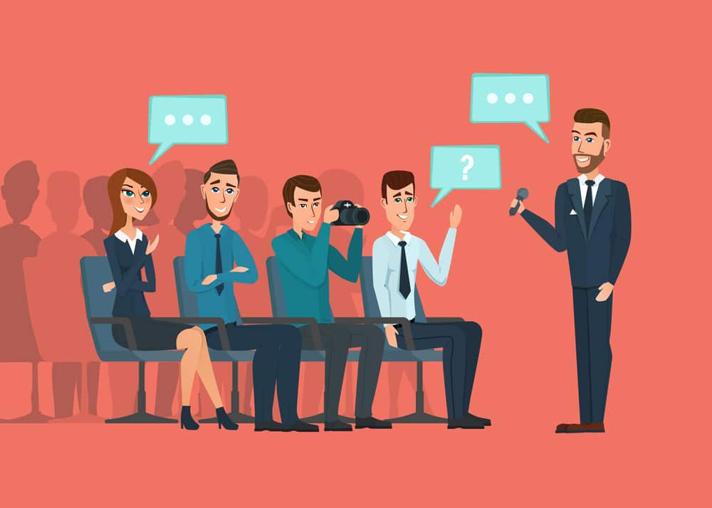 First business meeting: Speak confidently