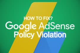 Google AdSense Policy Violation